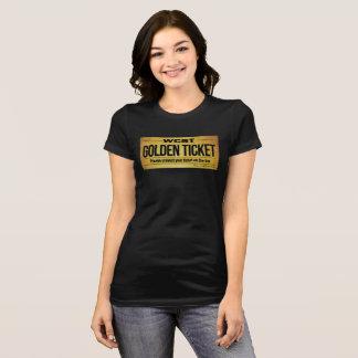 Camiseta Bella de las mujeres DE ORO del BOLETO de