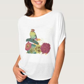 Camiseta Bella de las mujeres+Top del círculo de Flowy de