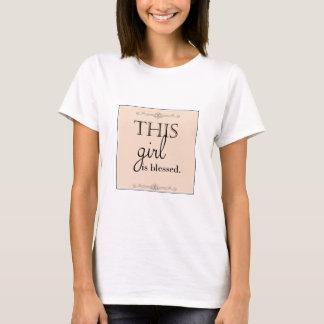 Camiseta bendecida del chica