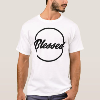 Camiseta bendecida negro