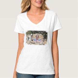 Camiseta Bennett - mini australiano - Rosie - playa de