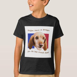 Camiseta Besos del francés de Griffon Fauve de Bretaña Give