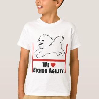 Camiseta Bichon Frise - amor de la agilidad de Bichon