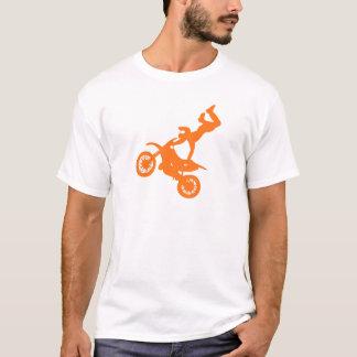 Camiseta Bici blanca anaranjada simple de la suciedad del