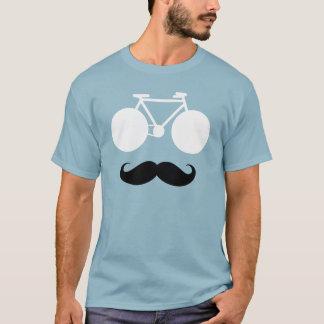 Camiseta bici blanca con el bigote