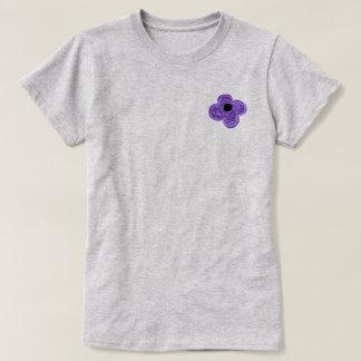 Camiseta Bici púrpura de la flor