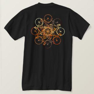 Camiseta bicis anaranjadas parduscas. ciclo/el biking