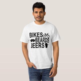 Camiseta Bicis, barbas, cervezas.