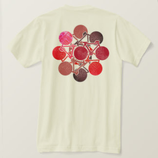 Camiseta bicis rojizas. ciclo/el biking fresco