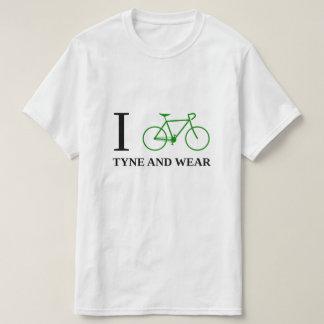 Camiseta Bike TYNE Y el DESGASTE (el icono verde de la