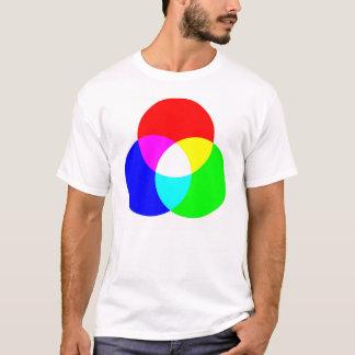 Camiseta bilateral del RGB y de CYM