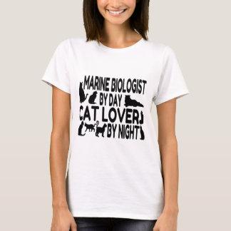 Camiseta Biólogo del infante de marina del amante del gato