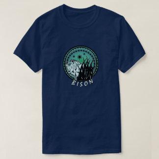 Camiseta Bisonte - aguamarina americana del búfalo azul