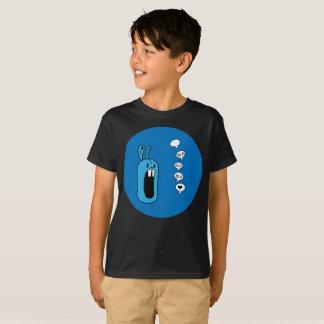 Camiseta ¡Bla Bla Bla! El arte azul de la esfera del conejo