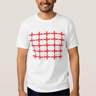 Camiseta blanca adulta de la bandera de Inglaterra