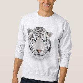 Camiseta blanca de la cabeza del tigre
