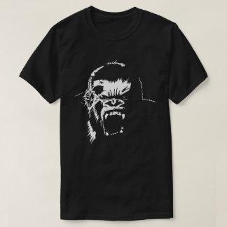 Camiseta blanca de la furia del mono del gorila