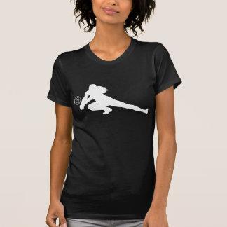 Camiseta blanca de la silueta del empuje