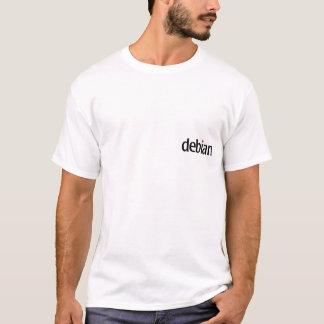 camiseta blanca debian del ninja