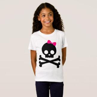 Camiseta blanca del jersey del cráneo del Punky