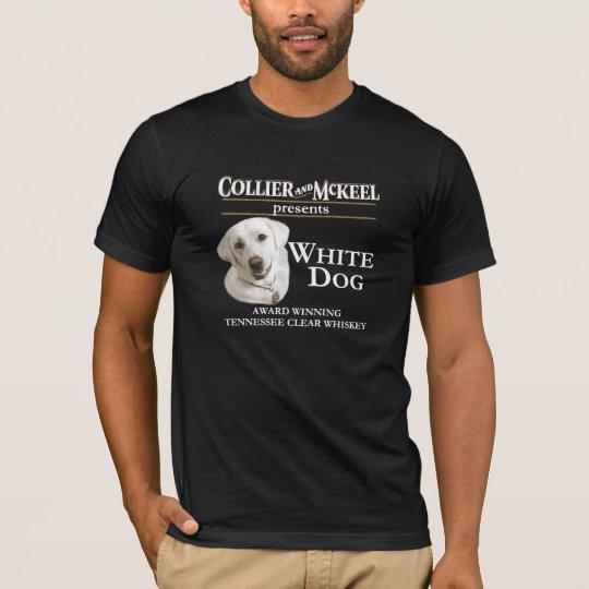 Camiseta blanca del negro del perro del minero y