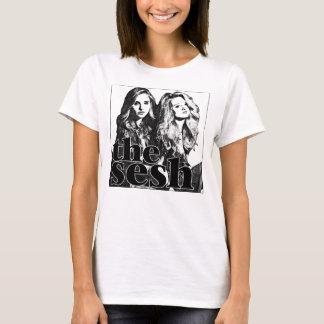 """Camiseta blanca del Sesh de las mujeres """"piedra de"""