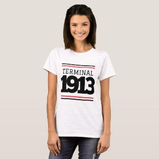Camiseta Camiseta blanca del terminal 1913 de la droga