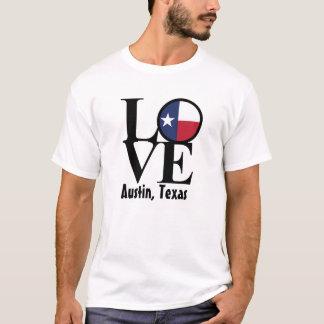 Camiseta blanca para hombre de Austin Tejas del