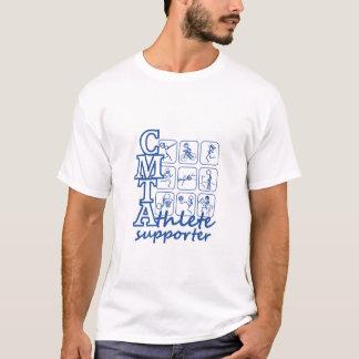Camiseta blanca para hombre del partidario del