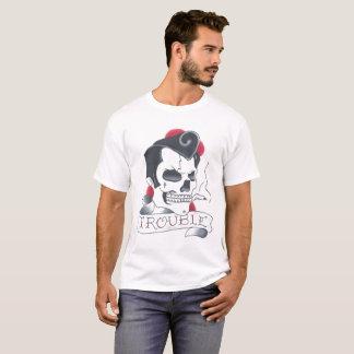 Camiseta blanca para hombre del problema