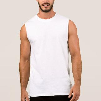 Camiseta blanca sin mangas de elevación para