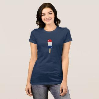 Camiseta blanca y azul roja patriótica del