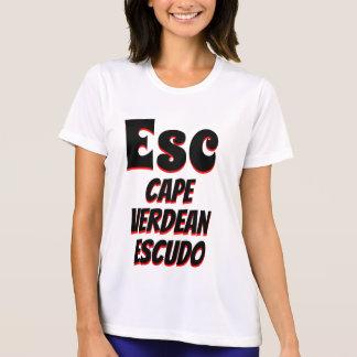 Camiseta Blanco caboverdiano del escudo de salida