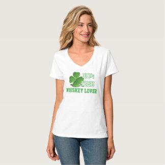 Camiseta Blanco del día de St Patrick del amante del whisky
