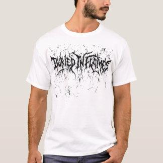Camiseta Blanco enterrado en llamas