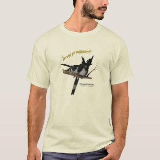 Camiseta Blanco-hinchado Va-Lejos el pájaro