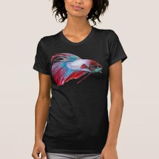 Camiseta Blanco rojo y azul (los pescados despejan el