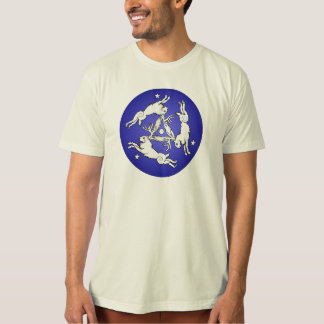 Camiseta Blanco triple de Jackalopes en azul