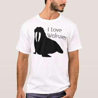Camiseta blanco y negro de la morsa