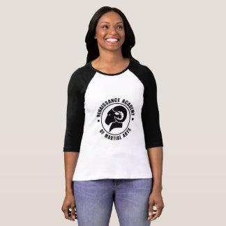 Camiseta blanco y negro de RAM de la manga de las