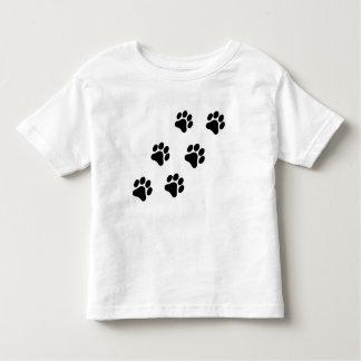 Camiseta blanco y negro del niño del modelo de la