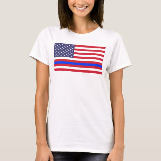 "Camiseta ""BLUE LINE FINO en BANDERA """