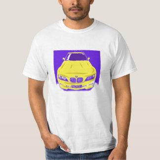 Camiseta BMW litografía en amarillo y púrpura