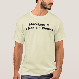Camiseta Boda =, 1 mujer   del hombre 1