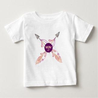 Camiseta bohemia del bebé de las flechas de la