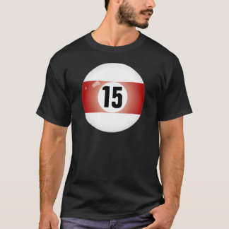 Camiseta Bola de billar del número quince