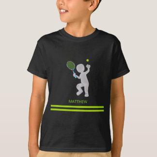 Camiseta bola de la estafa de tenis del jugador de tenis 3D