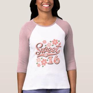 Camiseta bonita del raglán del dulce 16 del pétalo
