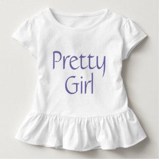 Camiseta bonita del volante del niño del chica