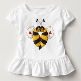 Camiseta Bopping del volante del niño de la abeja